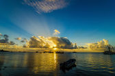 Boats in the Caribbean Early Morning — Stock Photo