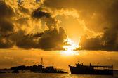 Sunrise over the Caribbean Sea — Stock Photo