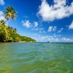 Caraïbische kust weergave — Stockfoto
