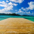 Dock and Beautiful Water — Stock Photo