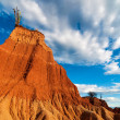 Stock Photo: Towering Red Rock Formation