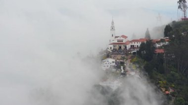 Monserrate Church and Clouds — Stock Video