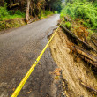 Stock Photo: Collapsed Road