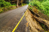 Collapsed Road — Stock Photo
