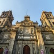 Stock Photo: Mexico City Cathedral Facade