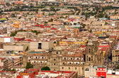 Aerial View of Mexico City Cathedral — Stock Photo