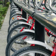 Row of Public Bicycles — Stock Photo
