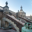 Mexico City Cathedral Roof — Stock Photo