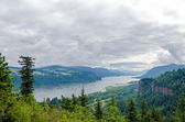 Clouds over the Columbia River — Stock Photo