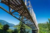 Bridge Over Columbia River — Stock Photo