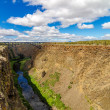 Crooked River Canyon and Bridge — Stock Photo