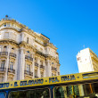 Stock Photo: Bus and Architecture