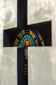 Stained Glass in a Tomb — Stock Photo