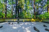 Vista giardino rock giapponese — Foto Stock