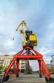 Yellow and Red Crane — Stock Photo