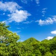 Green Hills and Blue Sky — Stock Photo