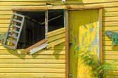 Dilapidated Yellow Building — Стоковое фото