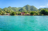 Vista de la costa tropical — Foto de Stock