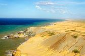 öken och hav — Stockfoto