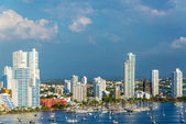 Yachts and Modern Cartagena — Stock Photo
