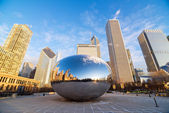 Chicago Cloud Gate Sunrise — Stock Photo