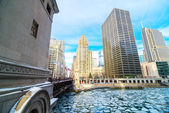 Icy Chicago River — Stock Photo