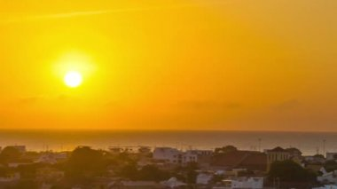 Panning Cartagena Sunset — Stok video