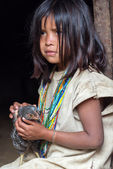 Wiwa Indian Girl — Stock Photo