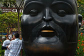 Botero Sculpture Head — Stock Photo