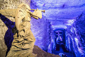 Salt Cathedral Angel — Stock Photo