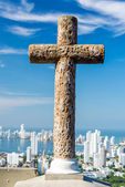 Cross and City — Foto Stock