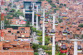 Medellin Metro Cable Cars — Stock Photo