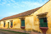 Yellow Colonial Building — Stockfoto