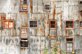 Rustic Wall and Windows — Stock Photo