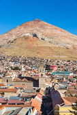 Cerro rico über potosi, bolivien — Stockfoto
