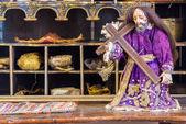 历史旧耶稣基督雕像 — 图库照片