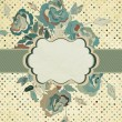 Vintage Flowers template design. EPS 8 — 图库矢量图片 #12486015