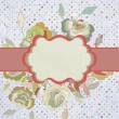 Vintage border with flower. EPS 8 — Vector de stock