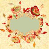 Fundo vintage com flores. eps 8 — Vetorial Stock