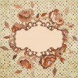 Stock Vector: Floral vintage background. EPS 8