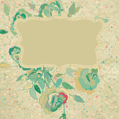 Vintage floral background. EPS 8 — Stock Vector