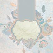 Romantic flower card template. EPS 8 — Stock Vector