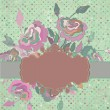 Royalty-Free Stock Vektorfiler: Romantic vintage rose background. EPS 8