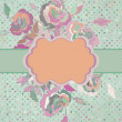 Old paper background with rose flowers. EPS 8 — Stock Vector #13203611