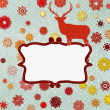 Royalty-Free Stock Vector Image: Christmas deer design template. EPS 8