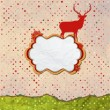 Christmas Invitation card template design. EPS 8 — Stockvectorbeeld