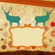 Christmas stylized speech card with deer. EPS 8 — Stock Vector