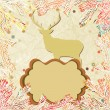 Christmas deer with snowflakes. EPS 8 — Stock Vector