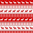 Stock Vector: Christmas seamless pattern with deer. EPS 8