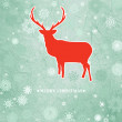 Christmas deer tempate card. EPS 8 — Stock Vector #13848715